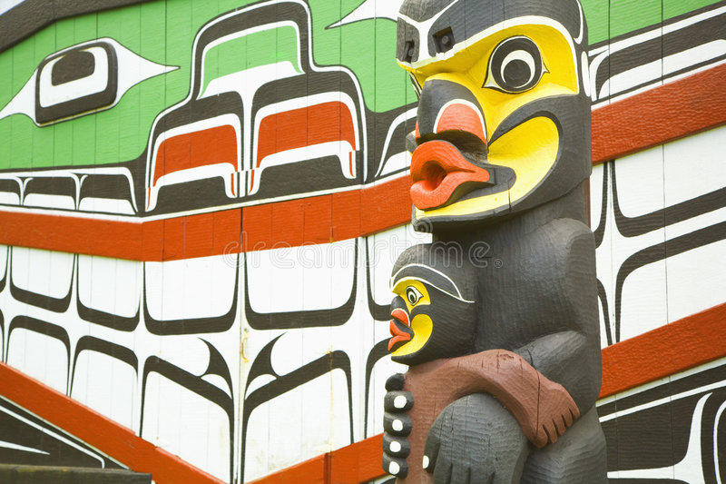 Download Totem Pole stock photo. Image of yellow, mouth, green - 1726416
