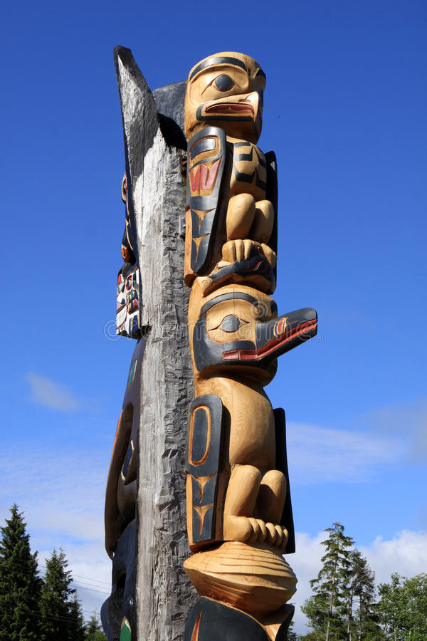 Totem Pole. A Totem Pole at Victoria BC. Vancouver Island. Canada stock image
