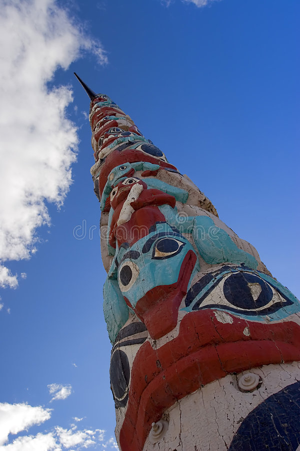 Download Totem Pole stock photo. Image of clouds, aboriginal, native - 225778