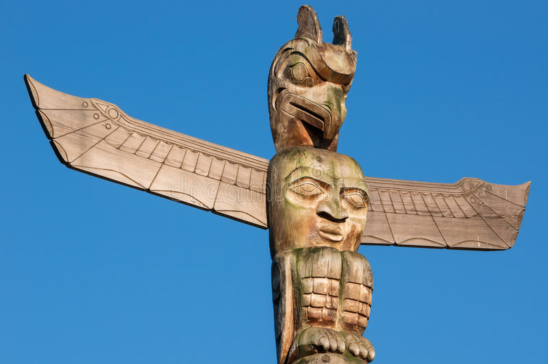 Totem Pole. In Vancouver, British Columbia, Canada stock photography