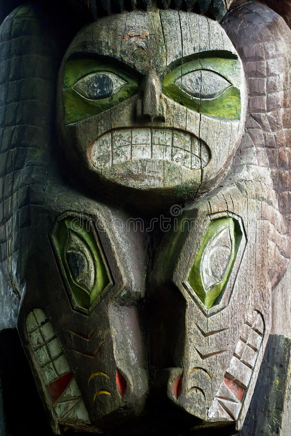 Totem Pole, North Vancouver, Canada stock photography