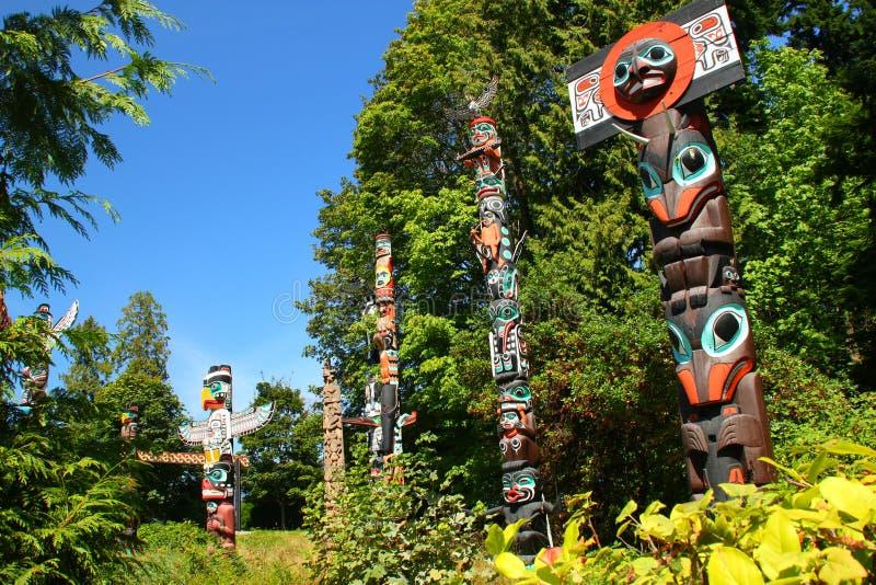 Totem Pole Vancouver lizenzfreies stockfoto
