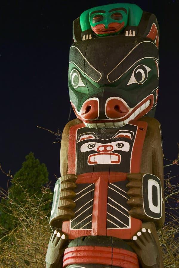 Totem Pole Victoria BC lizenzfreies stockbild