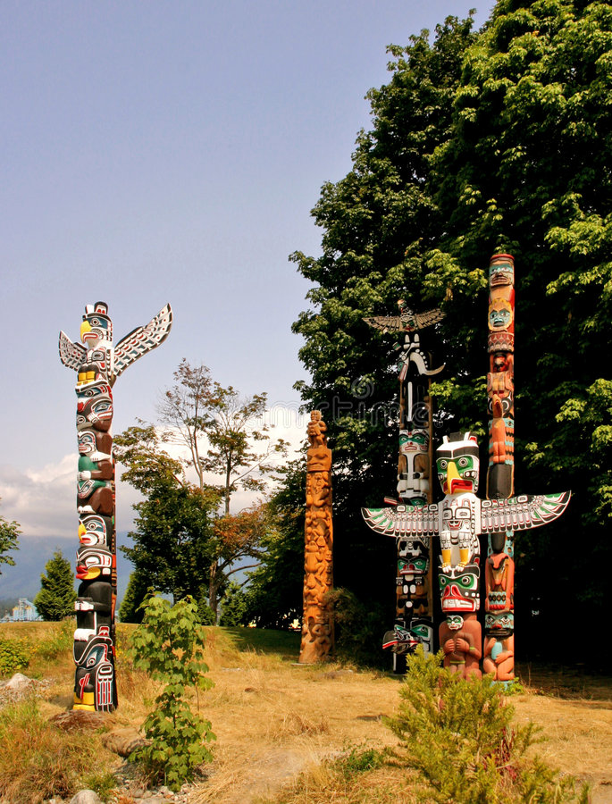 Download Totem Poles stock image. Image of columbia, craft, tribe - 1153711