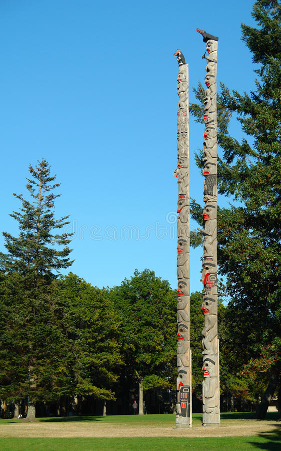 Totem Poles stock images