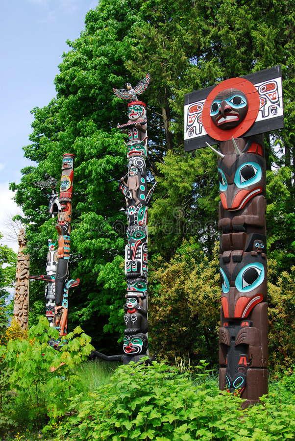 Totem poles royalty free stock photos