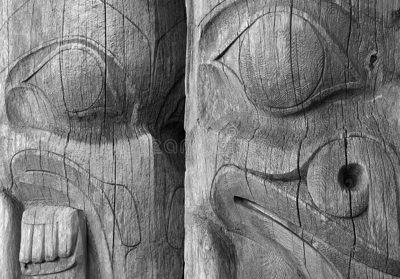 Download Totem Poles stock photo. Image of indian, full, unpainted - 6212366