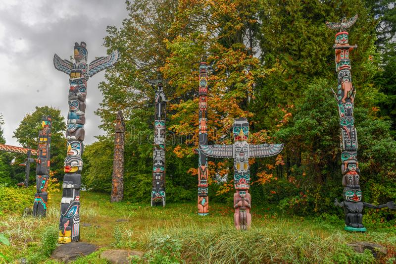 Totem Pole - Vancouver, Canada royalty free stock photos