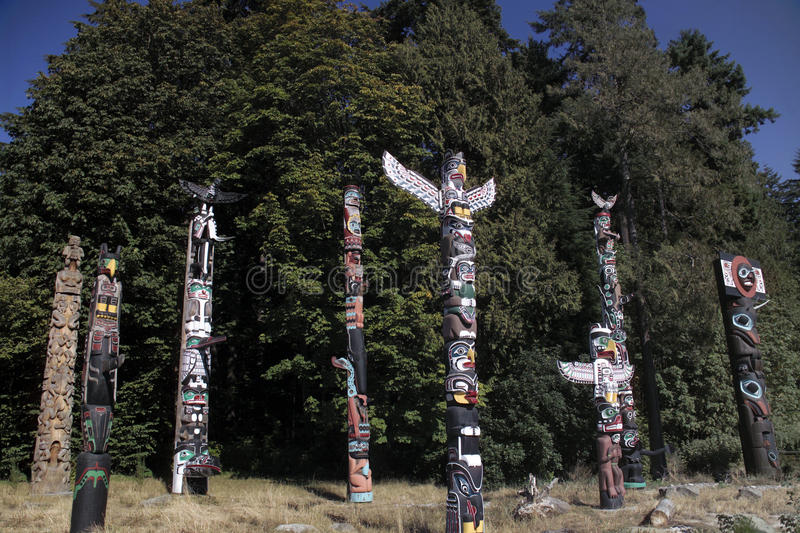 Totem Poles - Vancouver - Canada Royalty Free Stock Photography