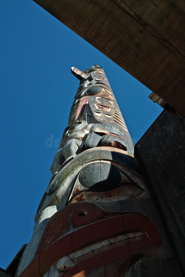 Totem Polonais, Vancouver AVANT JÉSUS CHRIST image stock