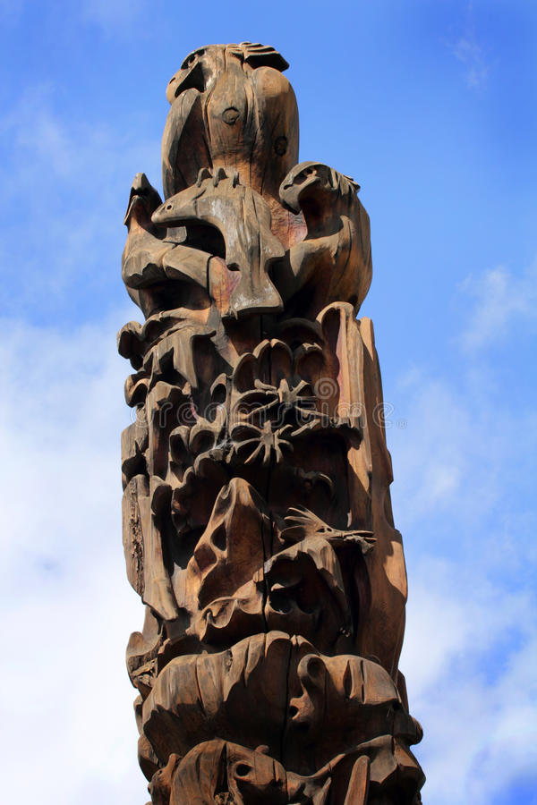 Totem in Sky stock image
