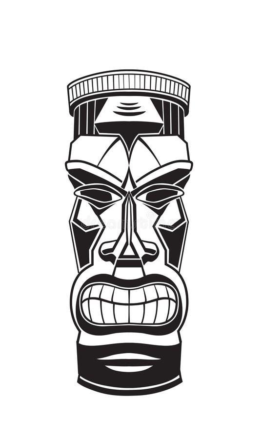 Totem Tiki di Hawiian fotografia stock libera da diritti