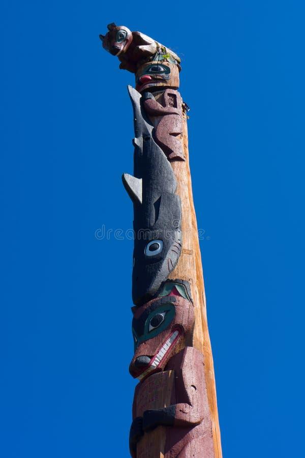 Totempfahl-Alaska-Inuit stockfoto