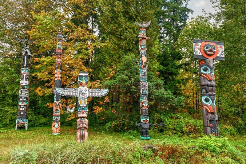 Totempfahl - Vancouver, Kanada lizenzfreie stockfotografie