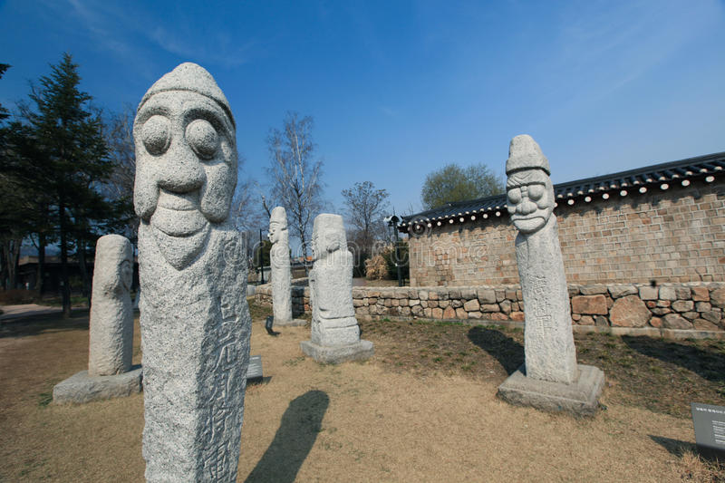 Totems in Asia stock image