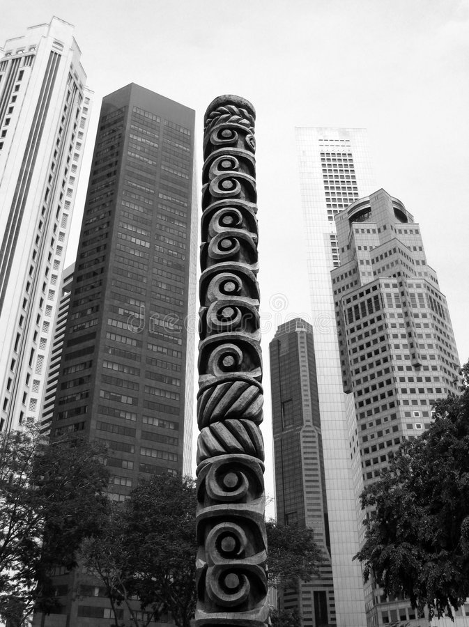 Totems of the City royalty free stock photography