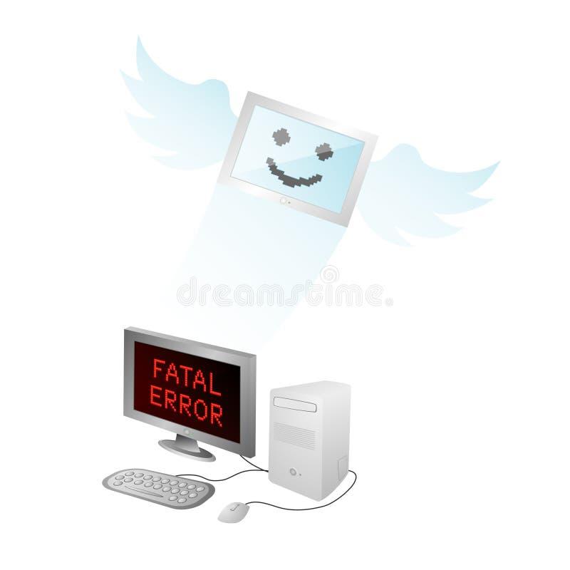 Toter Computer lizenzfreie abbildung