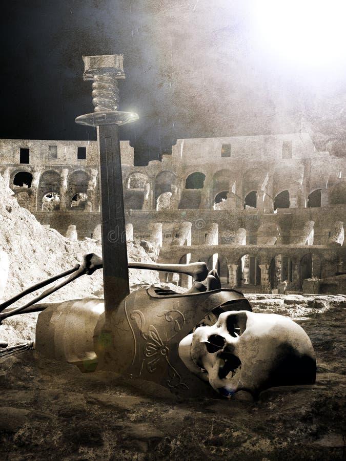Toter Gladiator lizenzfreie abbildung