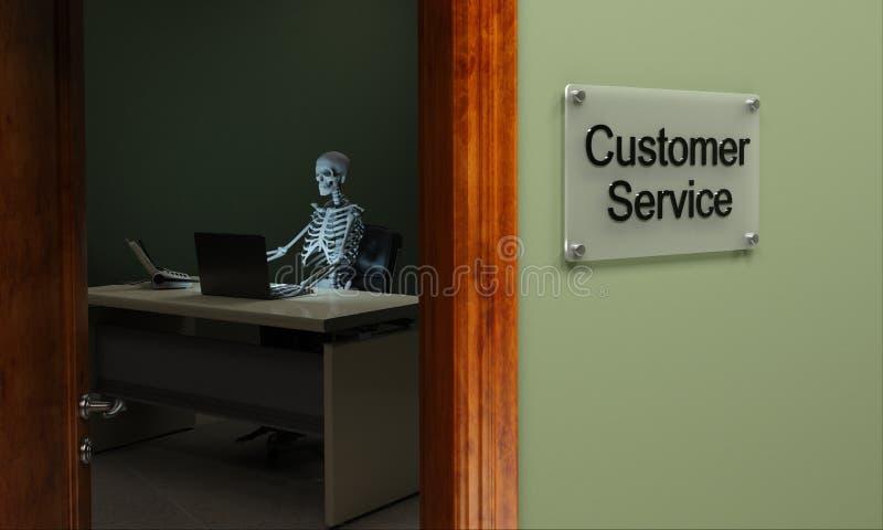 Toter Kundendienst lizenzfreie abbildung