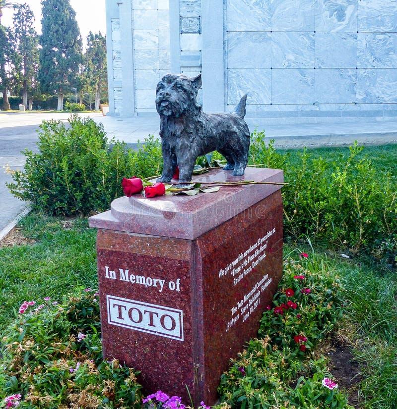 Toto Memorial In Hollywood Forever-Kirchhof - Garten von Legenden stockbild