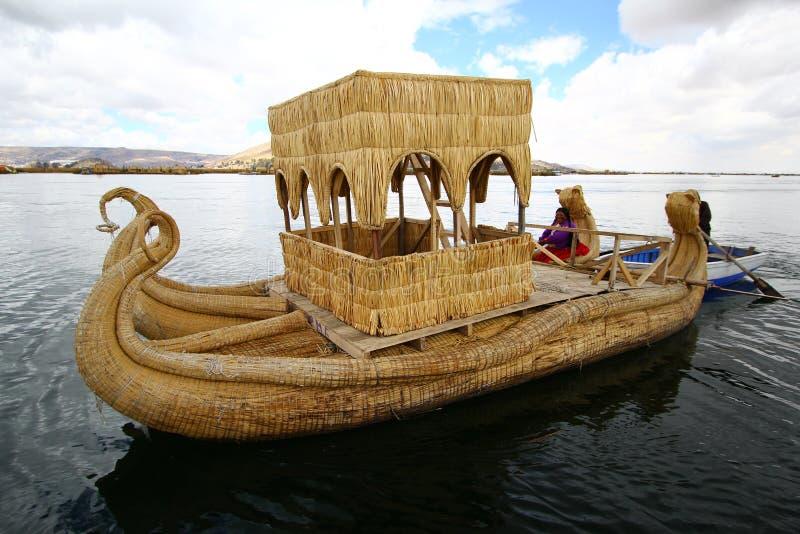 Download Totora boat, Peru editorial photography. Image of inca - 24879587