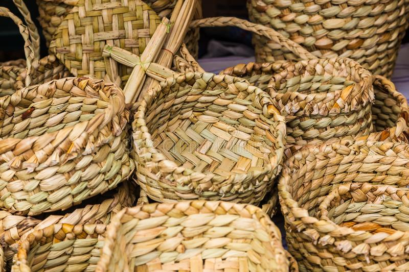 Totora crafts royalty free stock photography