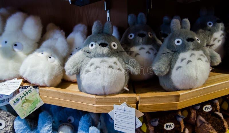 Totoro charactersfor sale at Studio Ghibli Store. TOKYO, JAPAN - MARCH 12, 2014: Totoro charactersfor sale at Studio Ghibli Store stock photography