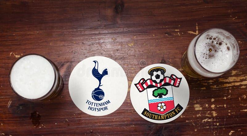 Tottenham contre southampton photographie stock libre de droits