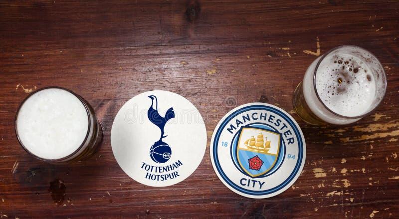 Tottenham Hotspur contre Manchester City image stock