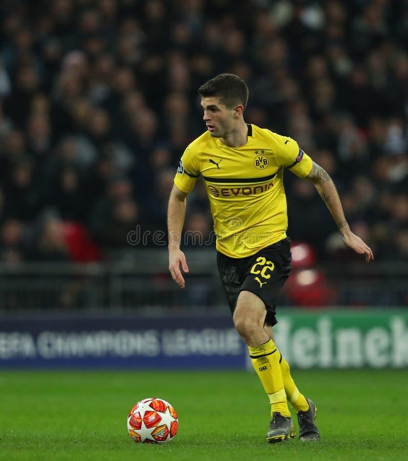 Tottenham Hotspur v Borussia Dortmund - UEFA Champions Leagueronde van 16: Eerste Been royalty-vrije stock foto's