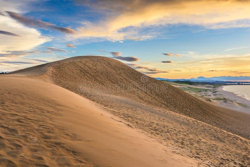 Tottori, песчанные дюны Японии на море Японии стоковая фотография