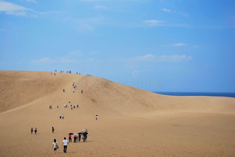 Tottori-Sanddünen stockbilder