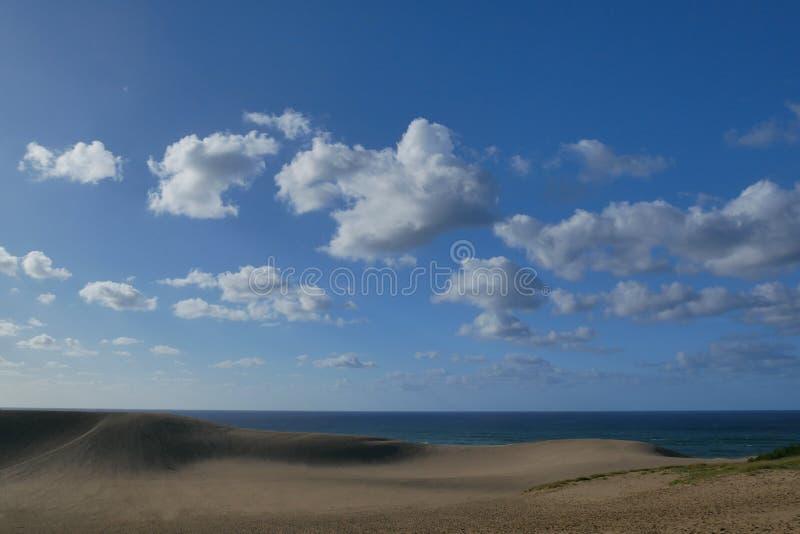 Tottori-Sanddünen im Sommer, Japan lizenzfreies stockbild
