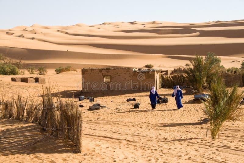 Touareg在撒哈拉大沙漠 免版税库存照片