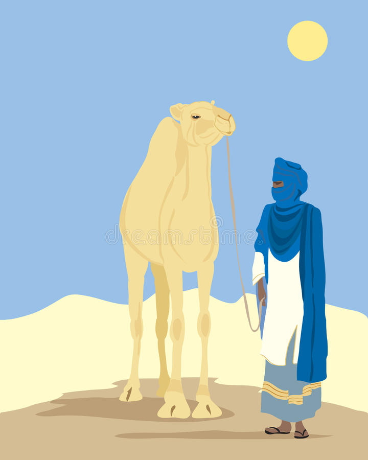 Download Touareg with camel stock vector. Image of camel, exotic - 15076707