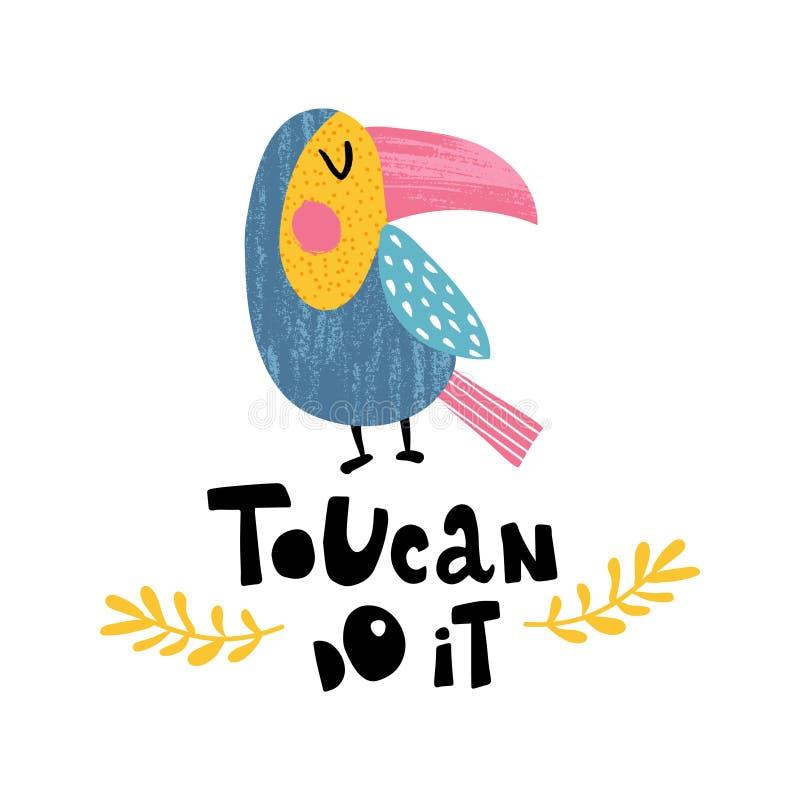 Toucan做它 库存例证