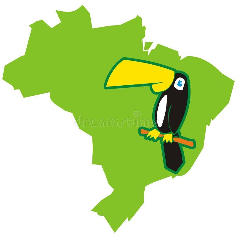 toucan的巴西 向量例证