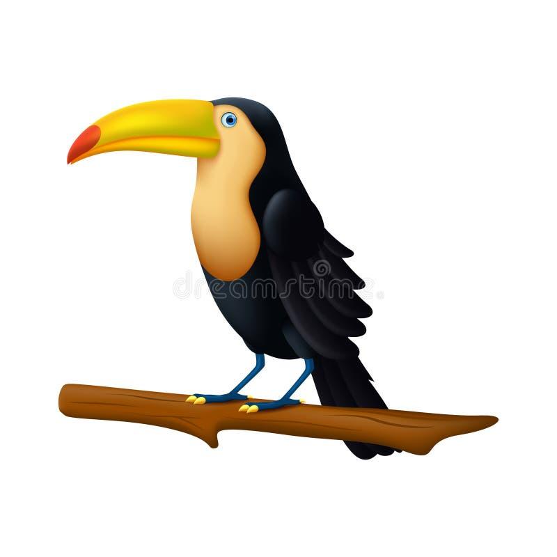 toucan鸟的例证 库存例证