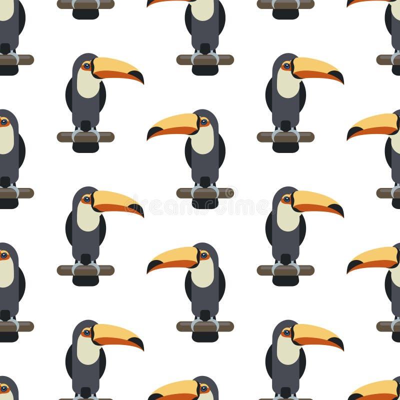 toucan鸟的无缝的样式 皇族释放例证