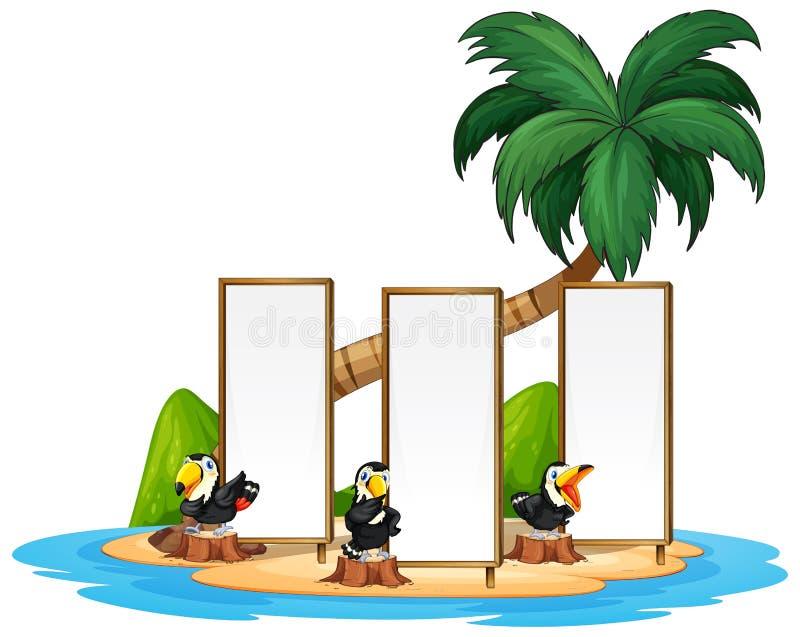 Toucan με το νησί fram ελεύθερη απεικόνιση δικαιώματος