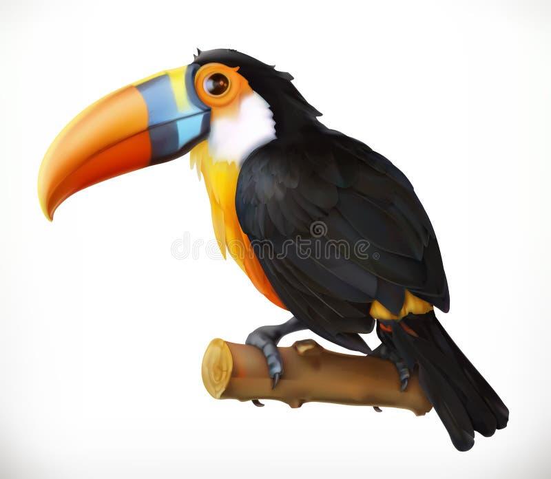 toucan 适应图标 皇族释放例证