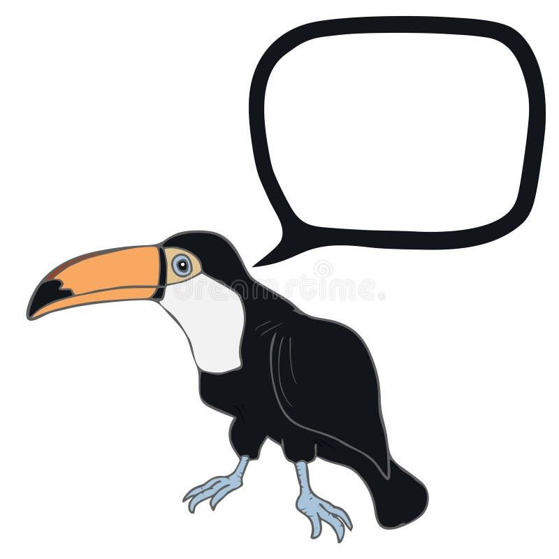Toucan bavard illustration stock