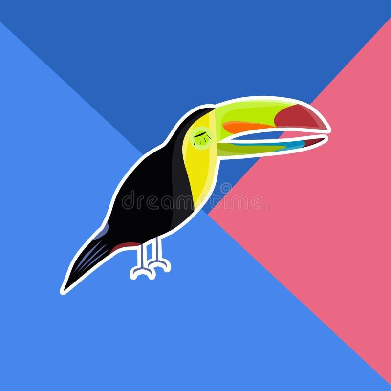 Toucan Hand gezeichnet lizenzfreie abbildung