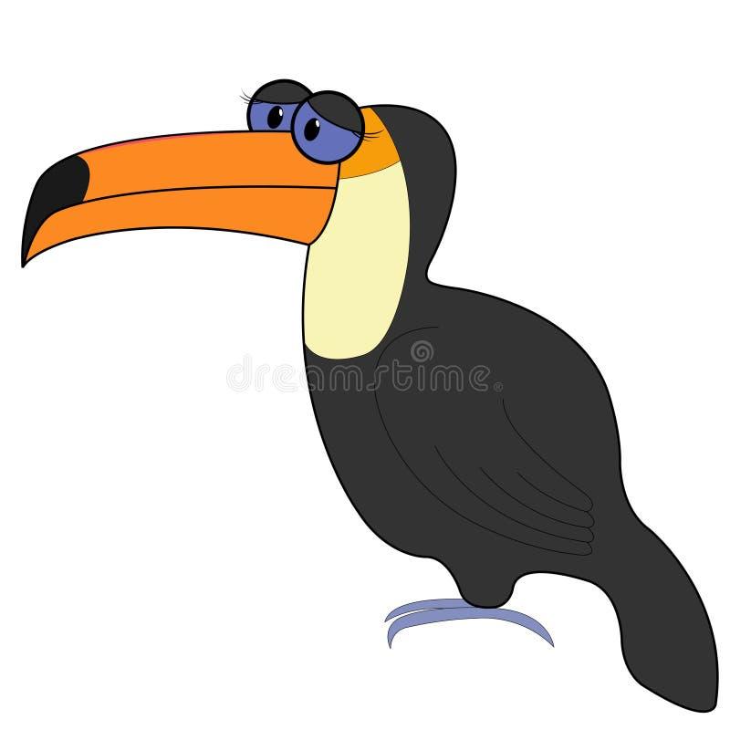 Ilustração do vetor dos desenhos animados de Toucan ilustração royalty free