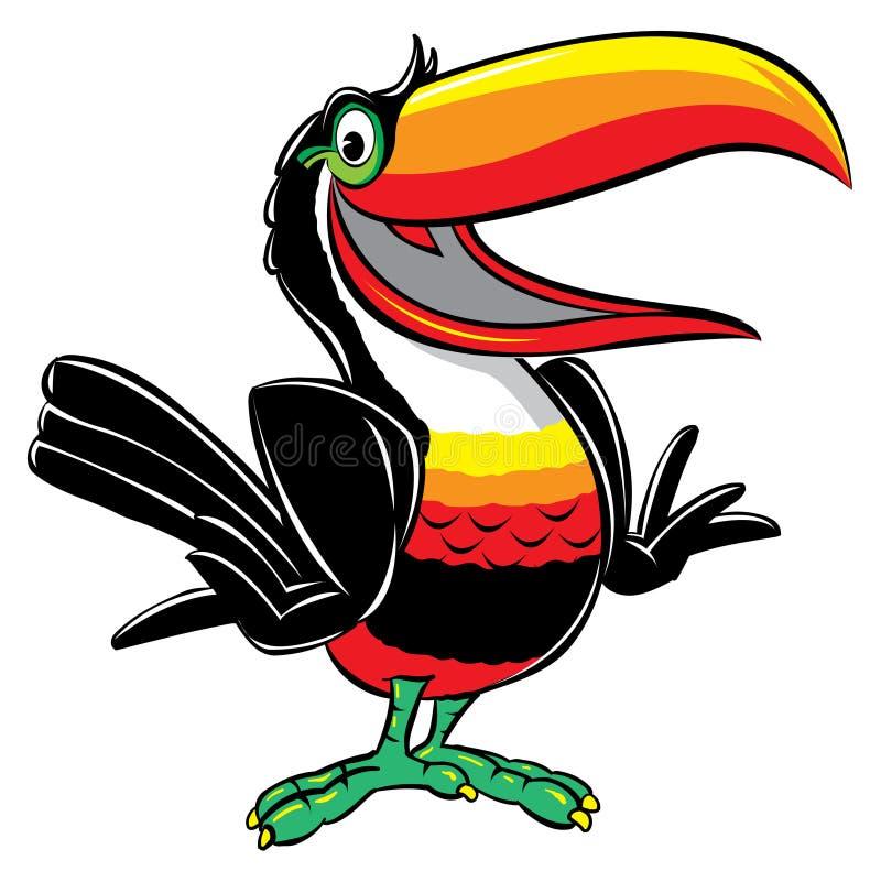 Toucan Karikaturabbildung stock abbildung