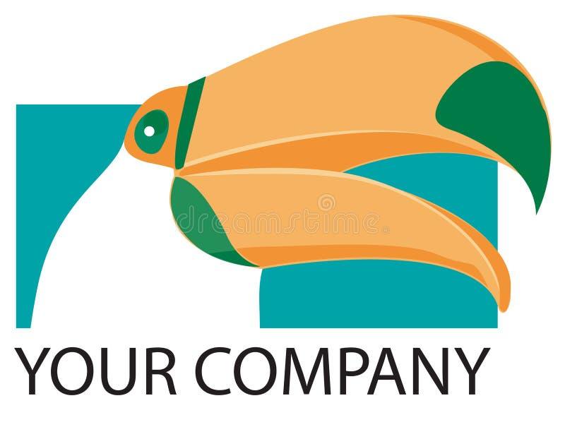 toucan logo stock illustrationer