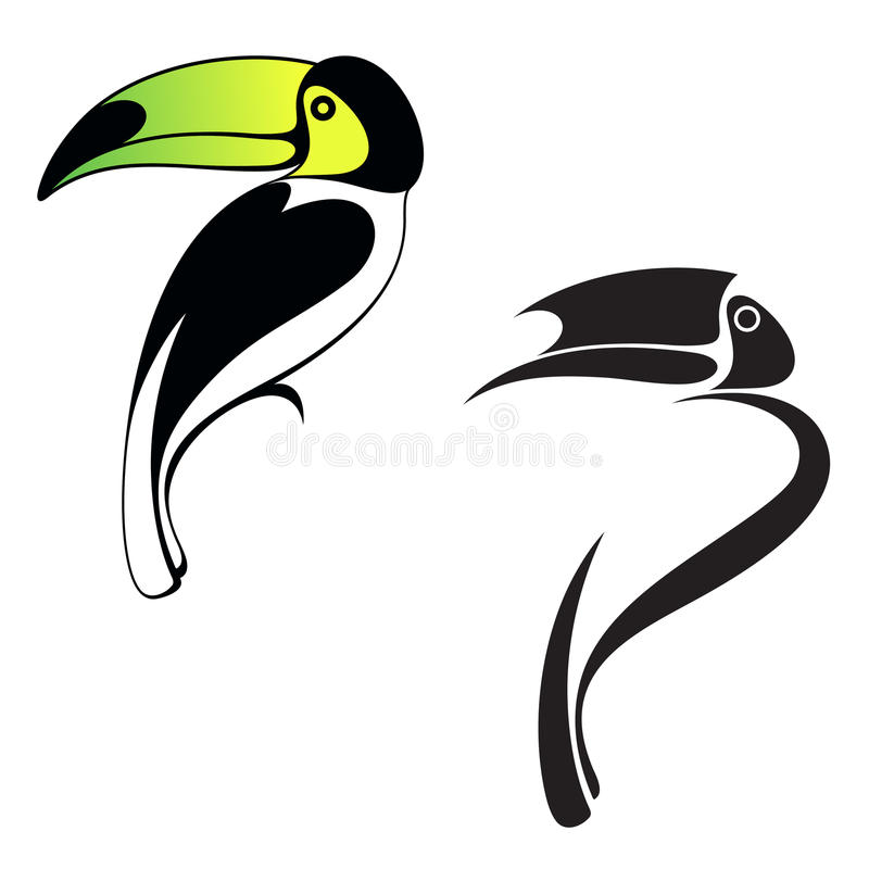 Toucan. Logo illustration libre de droits