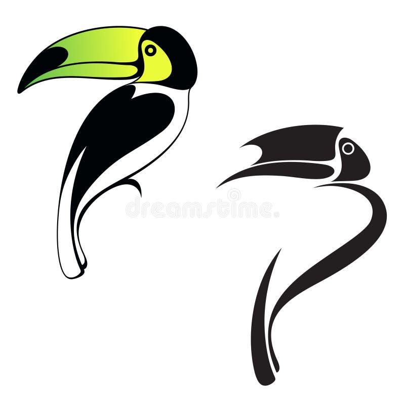 Toucan. Logo illustration libre de droits