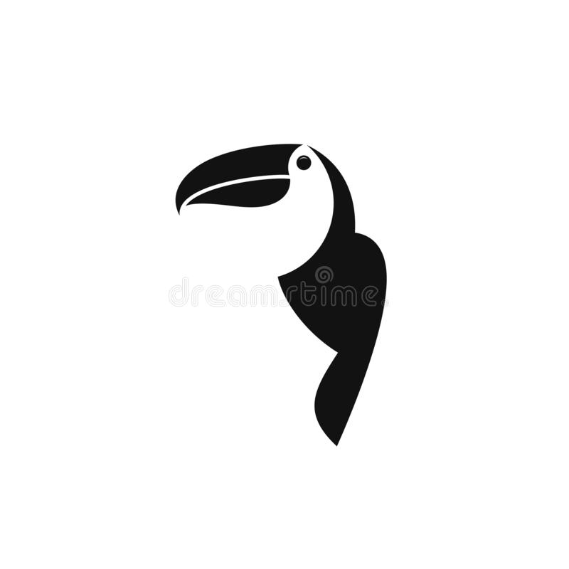 Toucan. Logo. Oiseau exotique sur fond blanc illustration libre de droits