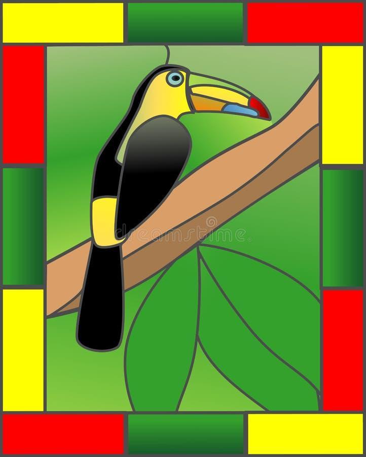 Toucan na selva ilustração stock